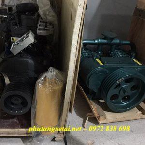 máy nén khí rơ mooc chở xi măng